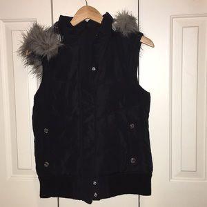 Black winter vest
